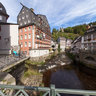 Monschau - Historic Center - Red House - Evangelical Church and Bridge - River Rur