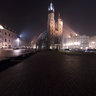Cracow, the Main Square and St Mary's Church - night tour