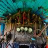 Interior of Steam locomotive JŽ 11-015