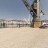vecchia gru al porto di Genova