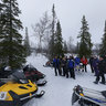Snowmobile picnic