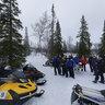 Snowmobile picnic