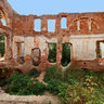 Abandoned Puschino-na-Nare estate. Main house Interior.