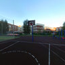 Sportground. Summer. Evening.