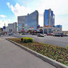 Moscow, Novy Arbat Street, the intersection of the Garden Ring