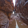A crevice in Wadi Rum, Jordan