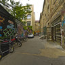The graffiti alley, Berlin, Germany