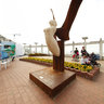 Europe Belgium Blankenberge Pier Statue