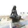 Europe Belgium Blankenberge Lucy statue