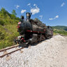 Narrow gauge steam locomotive, Mokra Gora