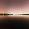 Tidal Basin with bright lights
