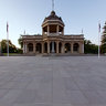 Bendigo RSL Memorial Hall & Military Museum Front View - At Dusk