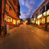 Cau May Street At Night Sapa Downtown
