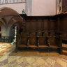 Stalles dans le choeur de l'église d'Orgelet (Jura)