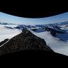 view from Centralen, Oscar II land, Spitsbergen, Svalbard