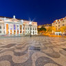 Rossio Square at Dusk