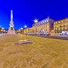 Restauradores Square at dusk