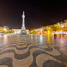 Rossio Fountain at Night