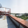 SatCom Building Roof Panorama