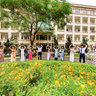 A graduation party with 33 Ao Dai Vietnam at Hanoi University