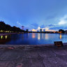 Twilight on Hanoi Indra Gandhi park 2