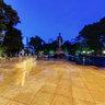 Twilight comes to Ly Thai To statue - Hanoi