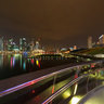 View from the Helix Bridge at night, Singapore