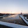 View from the Driebonds-bridge in Groningen