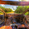 Inside a Burnt Car