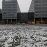 Spielberk office centre in winter