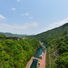 The top of Miyagase dam