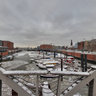 Speicherstadt - barge harbor - winter