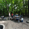 Campsite in Shabbona Lake State Park, Illinois