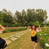 长春公园----鲜花美女13,Changchun park,
