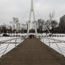 New bridge across river Kharkiv