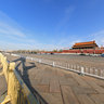 Tiananmen Square in Beijing, China Panorama