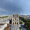 Notre Dame, Paris, France, Aerial shoot, 360° VR