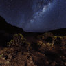 The Milky way above the Piton de la Fournaise