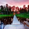 Anttolanhovi villas. saimaa lake. finland