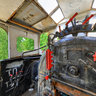 Memorial locomotive 9P inside cabine