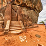 Lion's paws gate at Sigiriya Sri Lanka