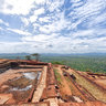 Ruins of the Palace Complex at the top of Sigiriya, Sri Lanka