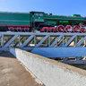 Памятник «Паровоз ФДп». Единственный сохранившийся паровоз серии ИС (Иосиф Сталин)