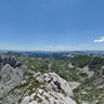 View On Bobotov Kuk, Sareni Pasovi And Zeleni Vir On Durmitor