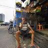 Taking a break, Pasar Pramuka, bird market, Jakarta