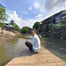 Ferryman, Ciliwung River, Jakarta