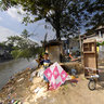 Kite Flyer, Ciliwung River, Jakarta
