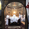 Easter mass in the White monastery in Sohag, Egypt
