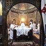 Easter mass in the White monastery in Sohag, Egypt