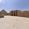 The Giza Plateau from the tomb of Senegemib Inti